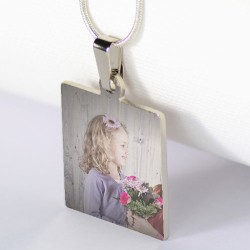 Collier carré avec photo