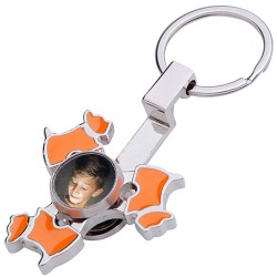 Porte clé hand spinner chien photo