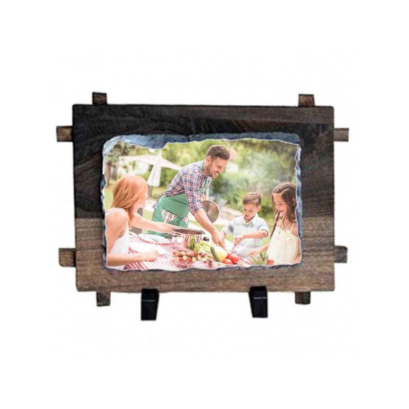 Cadre bois ardoise personnalisé photo