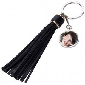 Porte clefs long plumeau personnalisé