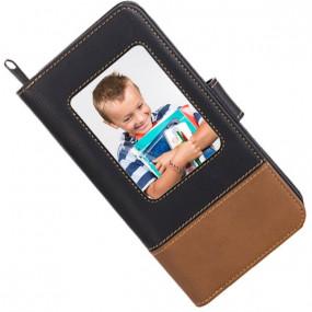 Portefeuille simili cuir personnalisé photo