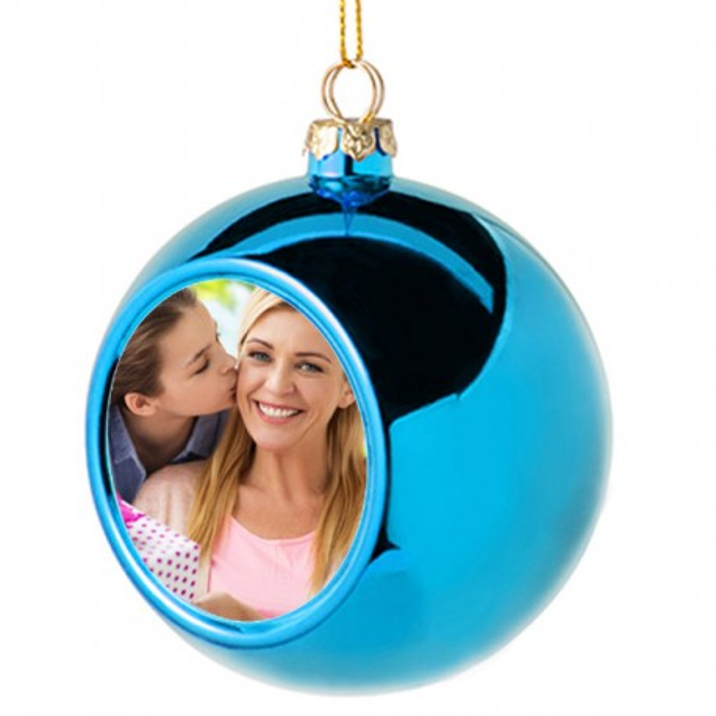 boule noel bleu personnalisée