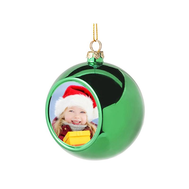 Boule noel vert personnalisée