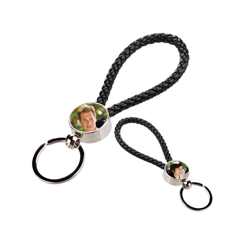 porte clé corde noir personnalisé