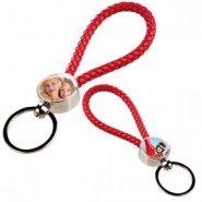 porte clé corde rouge 2 photos imprimées