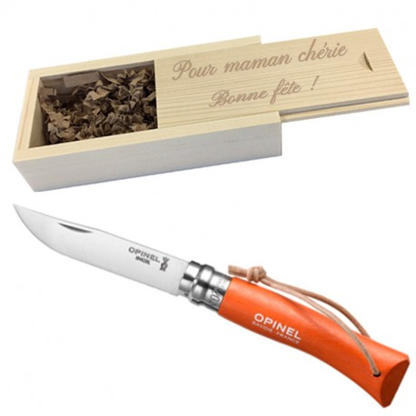 couteau opinel 7 mandarine