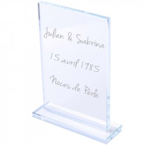 Cadre en verre portrait personnalisé