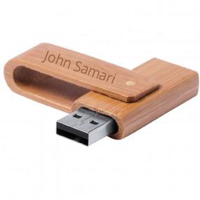 Clé USB bois bambou gravée