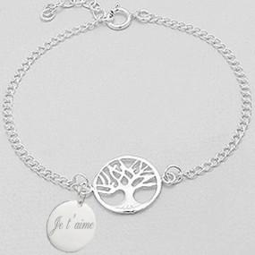 bracelet arbre de vie gravé