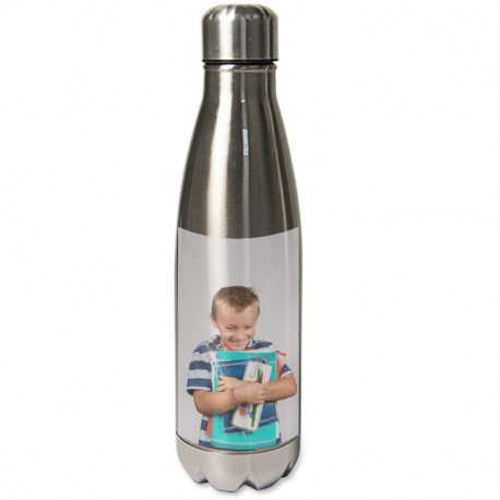 Bouteille thermos gris