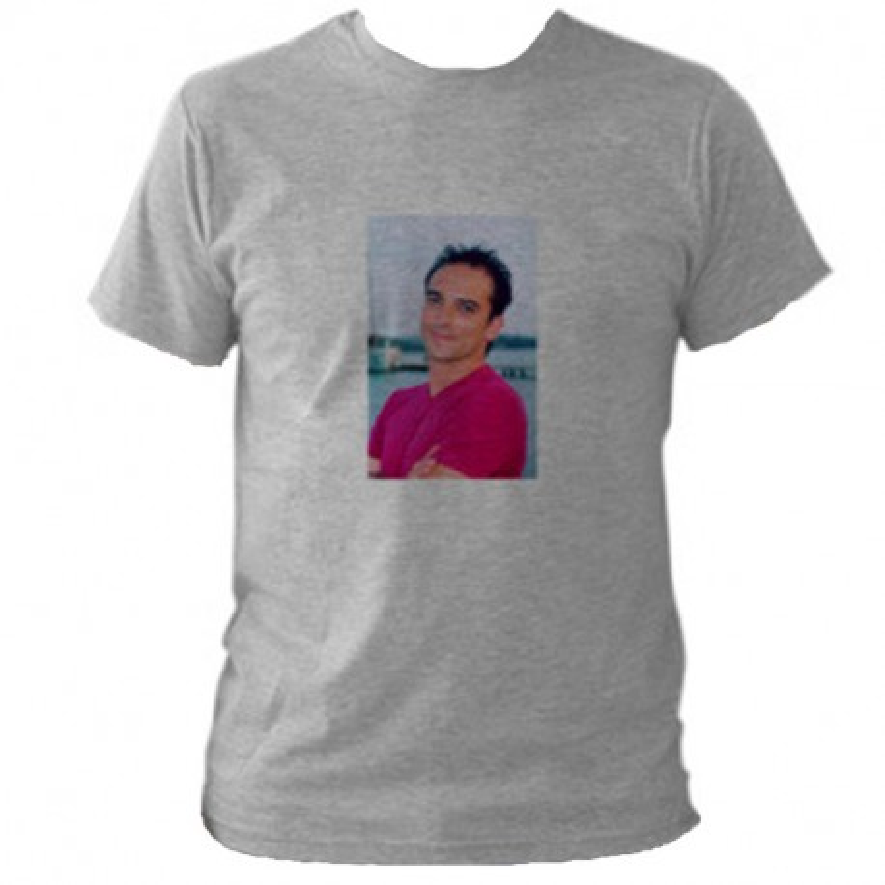 Tee shirt gris à personnaliser