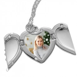 Collier médaillon coeur avec photo