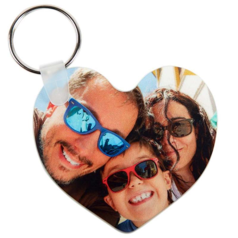 Porte clef coeur avec photo imprimée