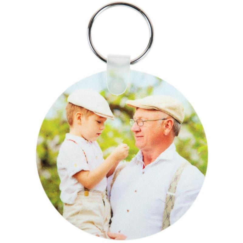 Porte clef rond brillant avec vos photos