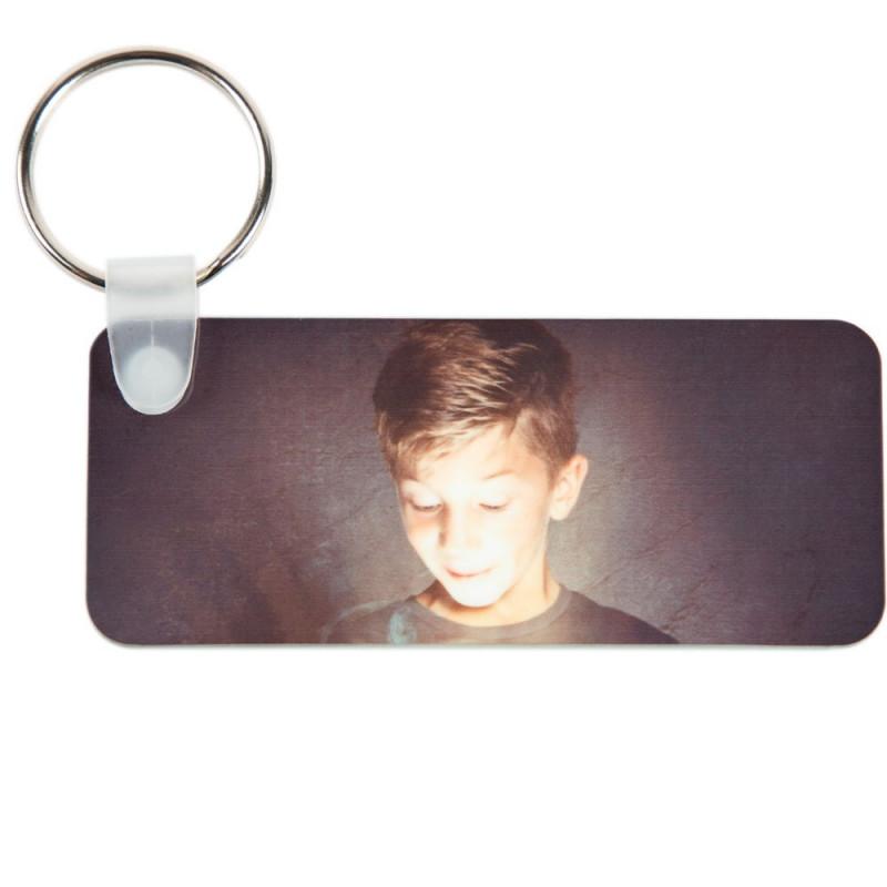 Porte clé rectangle long avec 2 photos