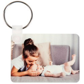 Porte clef rectangle personnalisé 2 photos