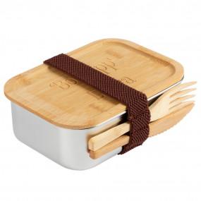 Lunch box acier gravé