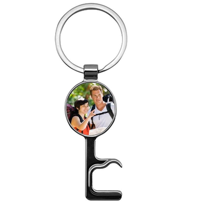 Porte clé décaps rond avec photo