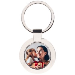 Porte clef rond metal perso