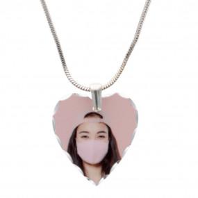 Pendentif coeur avec photo imprimée