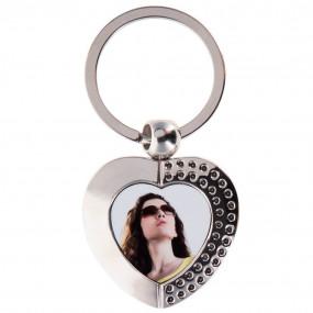 Porte clef coeur métal superbe avec photo