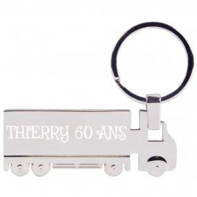 Porte clef camion gravure texte