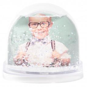 boule neige personnalisée 2 photos