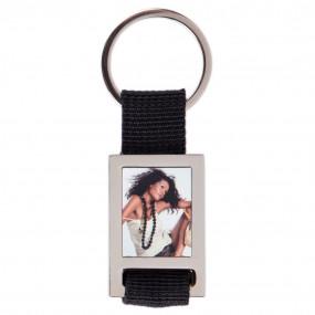 Porte clef tissu noir avec photo