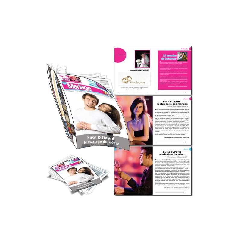 Magazine personnalisé spécial mariage