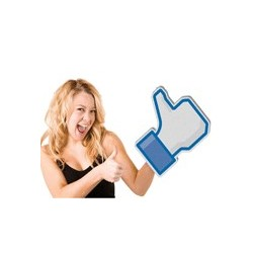 Grande main Facebook en mousse
