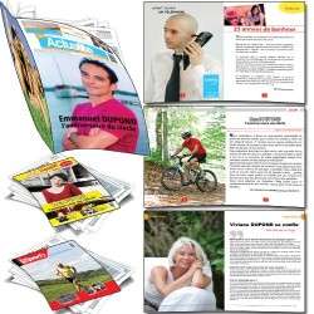 Faux magazine entièrement personnalisé