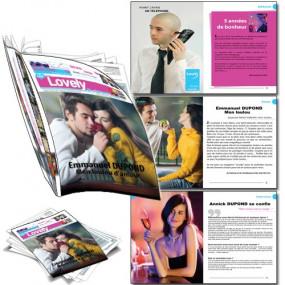 Magazine personnalisé photo pour les amoureux