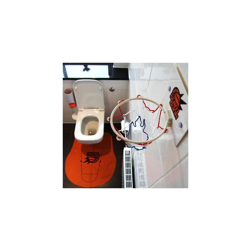 Jeu de basket insolite pour les toilettes
