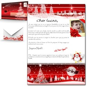 Lettre du Père Noël avec personnalisation