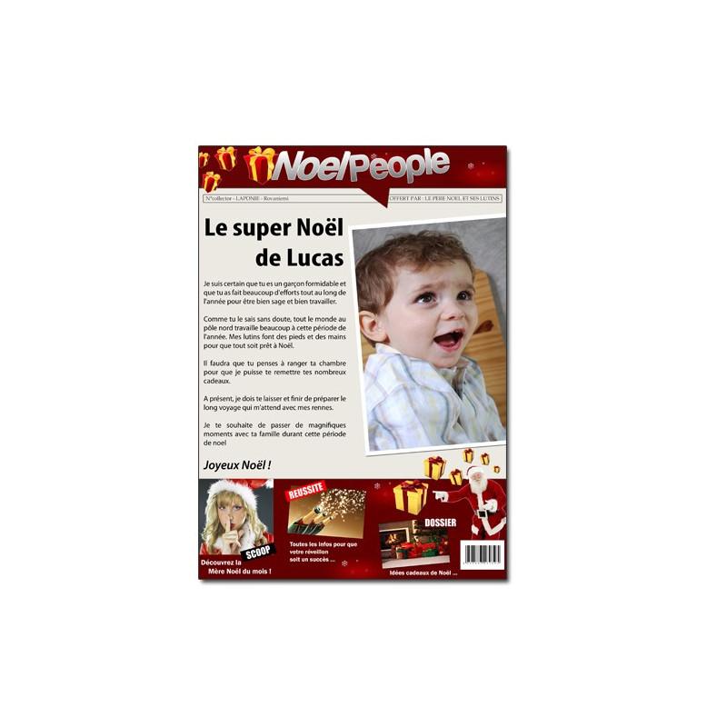 Fausse une de journal Noël personnalisée