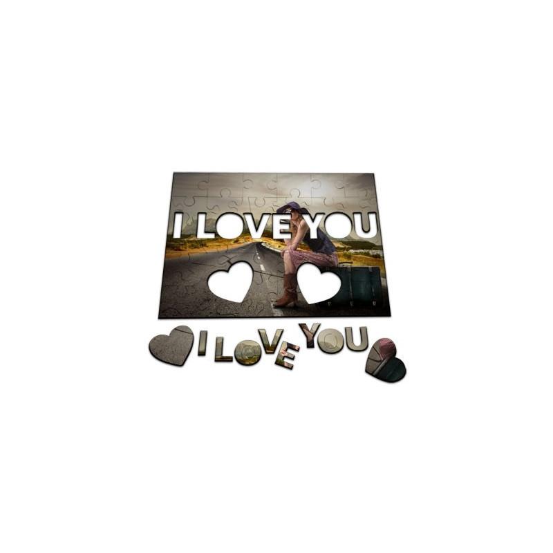 Puzzle coeur unique avec photo à imprimer