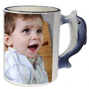 Mug personnalisé avec anse dauphin