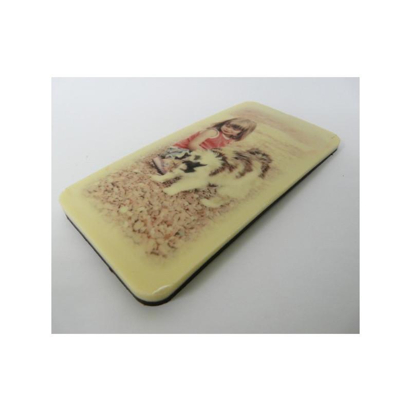Tablette de chocolat avec photo imprimée