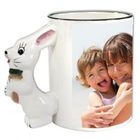 Mug original personnalisé avec anse lapin