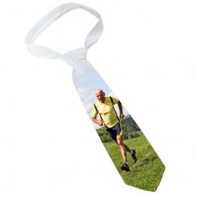 Cravate blanche personnalisée photo