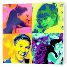 Tableau en plexiglas personnalisé Pop Art