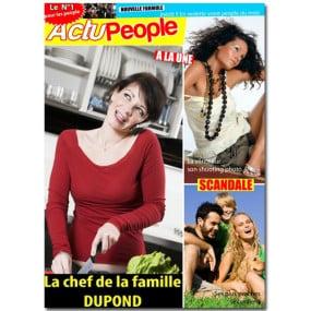Fausse couverture de magazine People