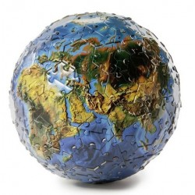 Puzzle 3D globe terrestre