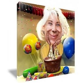 Caricature anniversaire à personnaliser