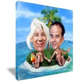 Caricature personnalisée pour un couple
