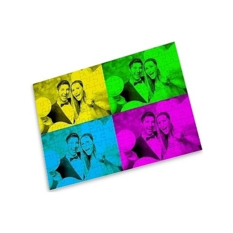 Grand puzzle photo pop art sur mesure