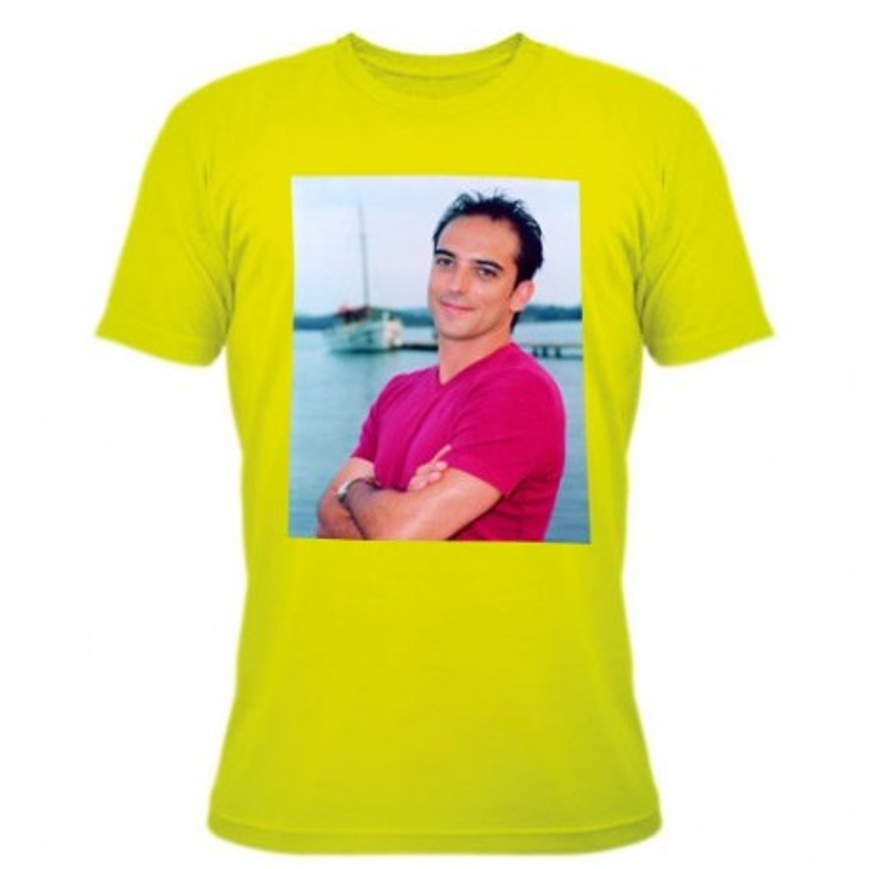Tee shirt vert avec photo imprimée