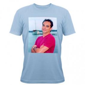 Tee shirt bleu à personnaliser