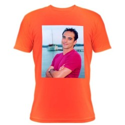 Tee shirt orange avec photo