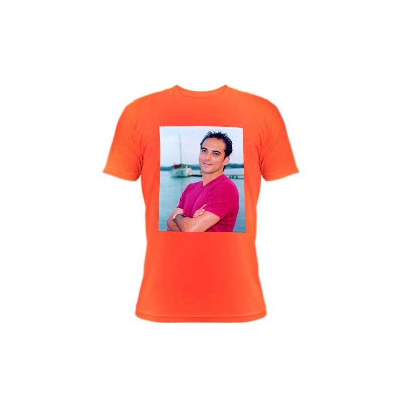 Tee shirt orange avec photo